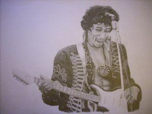 Jimi on guitar