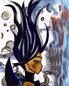 Aquarius Abstract - Jazzy Bear Arts