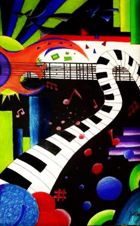 Abstract Music 2013 - Jazzy Bear Arts