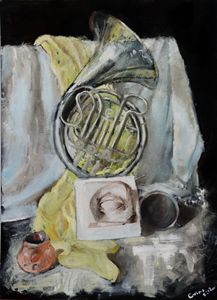 Still life with scarf