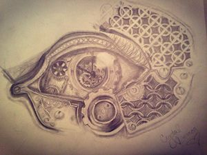 Steampunk bio eye