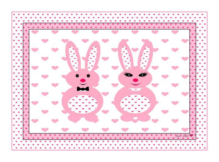 Mr & Mrs. Pink Bunny - Jan Todd