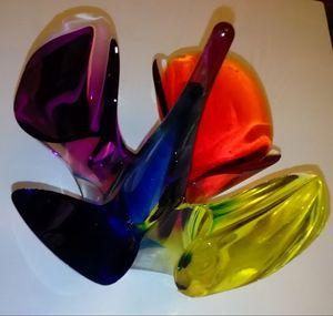 coloured flower 1 (epoxy resin art)