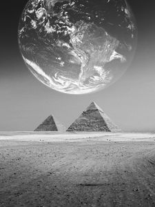 The Earth with pyramids ,Elements fu