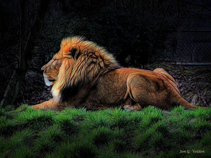 Lion Around - DunJon Fantasy Art