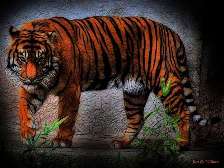 Impression of a Stalking Tiger - DunJon Fantasy Art