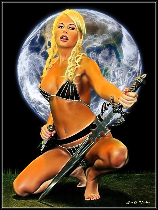 Maiden With Sword - DunJon Fantasy Art