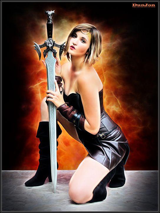 A Heroine And Her Sword - DunJon Fantasy Art