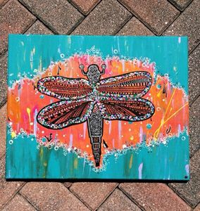 Kaleidoscopic dragonfly