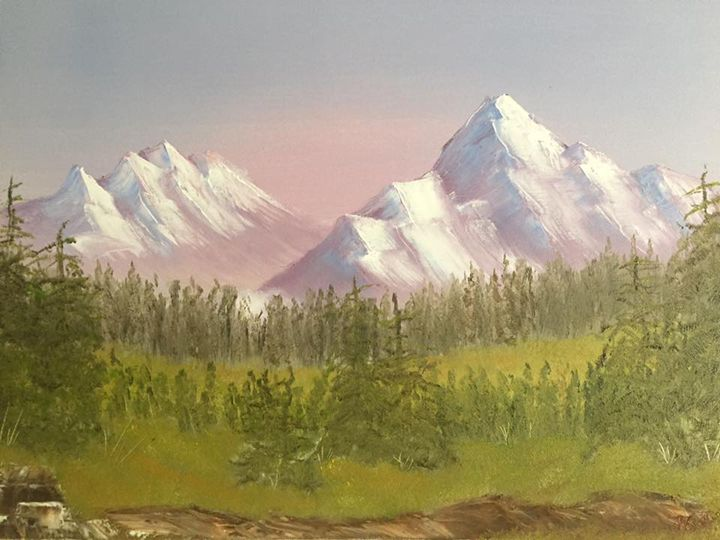 Sunrise in Mountains (2017) - Nataliia's Art Gallery