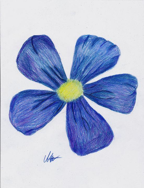 Blue Flower - Art by Indigo