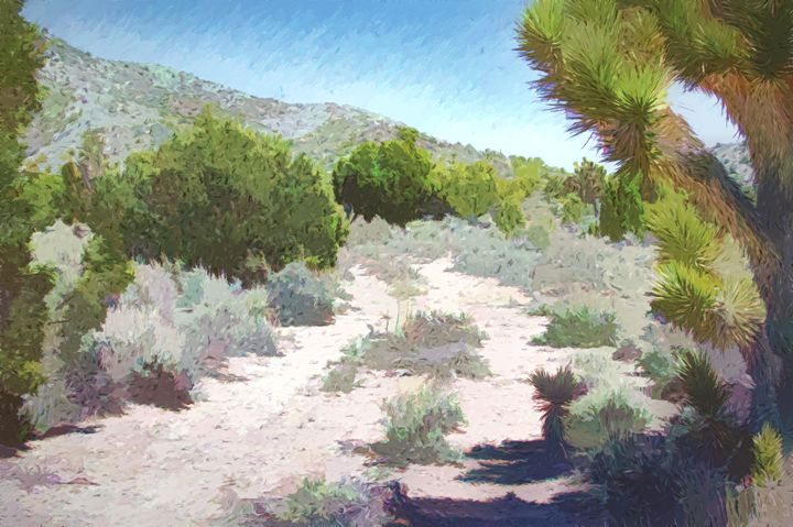 Nevada High Country Highway - Double Moon Art