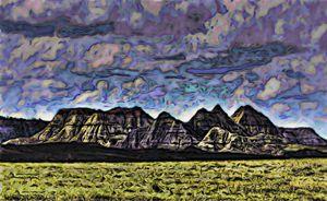 Montana Badlands Sunlit Hills