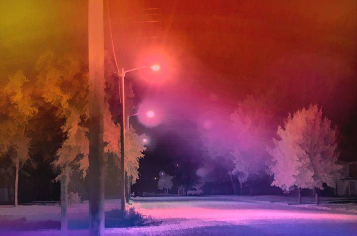 Summer Night Colors - Double Moon Art