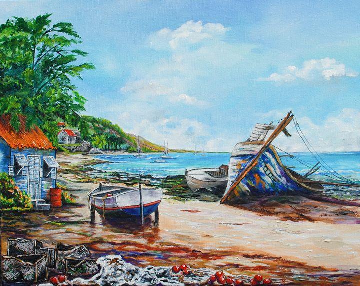 CRASH BOAT BEACH - Ruth Bowen Professional Artist