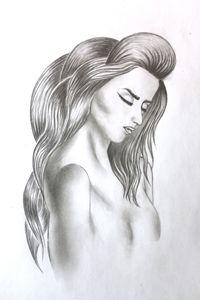 Naked women drawing