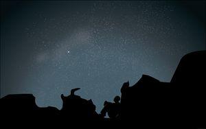 Night sky Illustration