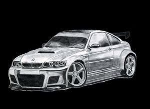 BMW m 3 drawing