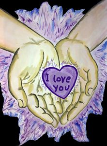Hands with Heart of Angel