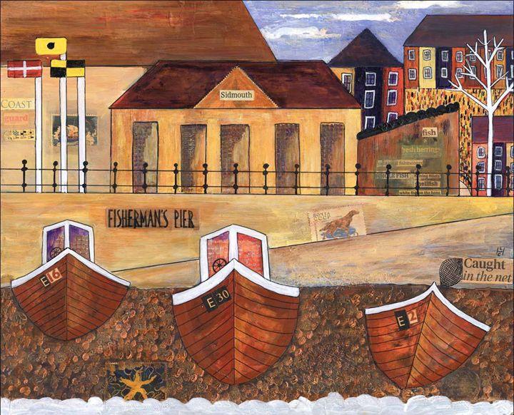 Sidmouth Pier - Heatherland Original Art