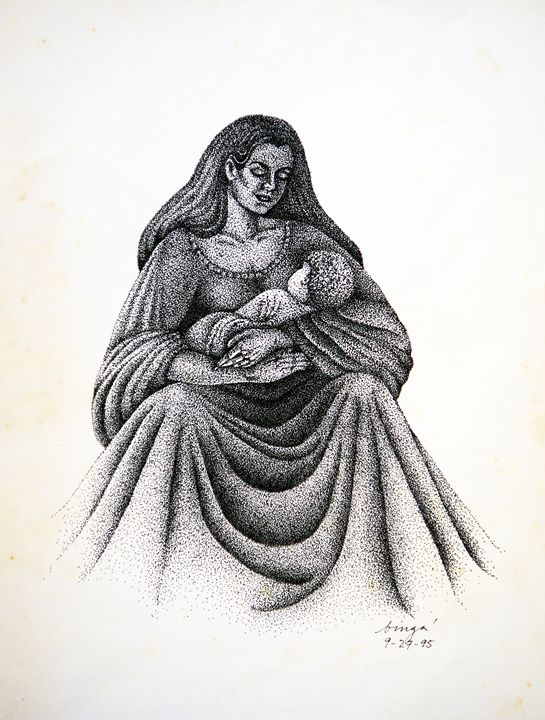"""""""Mag-Ina"""" (Mother and Child) - Liz Aguilar"""