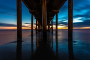Under the Pier in Huntington