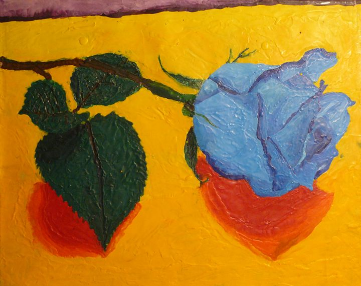 A Waxy Blue Rose - Gloria's Art Works