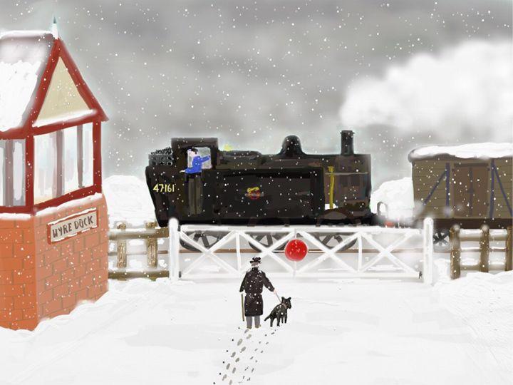 Wyre Dock Winter - Steam Dreams