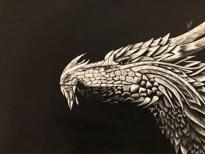 Dragon - Punnet's scratchboard