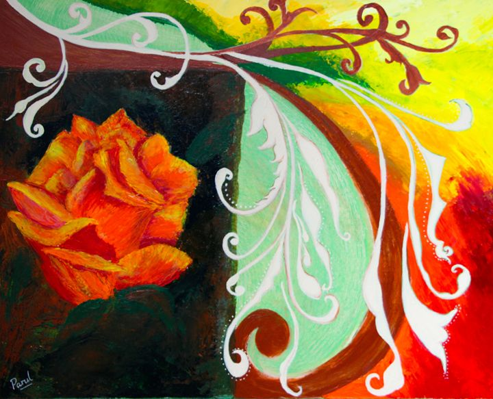 Tendrils and a Rose - Parul Mehta