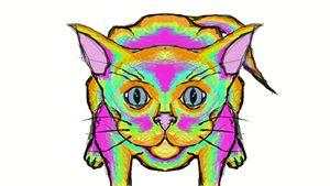 technicolor feline
