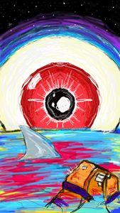 eyes on shark