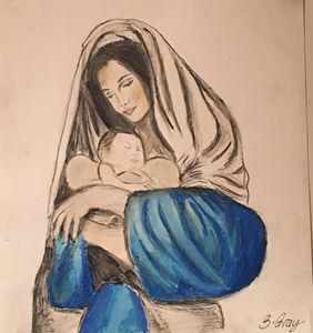 Mary and baby Jesus Nativity