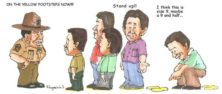 Yellow Footsteps - Garcia Cartoon Co