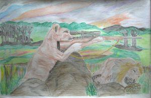 Revenge of sniper Lioness to animal