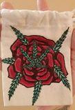 Hand painted mini tote bag