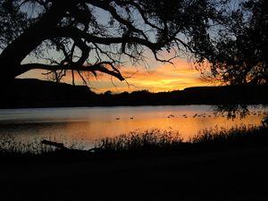 Sunset at Scott Lake