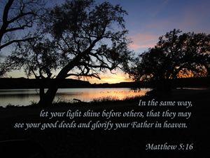 Matthew 5:16 Lake Sunset
