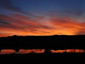 Bold & Beautiful Sunset on the Lake
