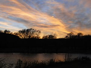 Fall Splendor - Sunset at Lake Scott