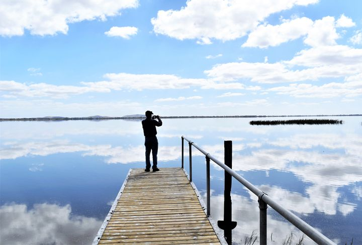 Lake Colac Reflections - Yolanda Caporn Art
