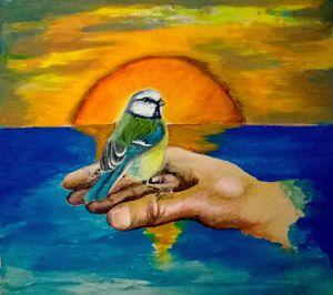 Bird and sea - Zbignev Leonovic