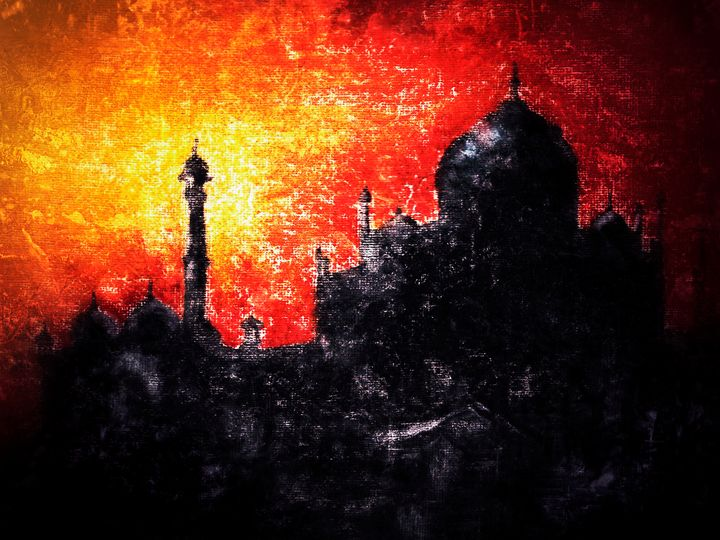 Taj Mahal in sunset - Amanda's Imaginarium