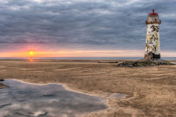 Lighthouse Sunset - Adrian Evans Photography