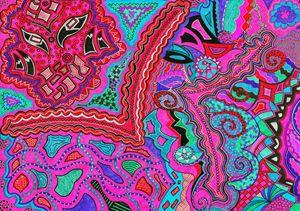 Pink Abstract Drawing