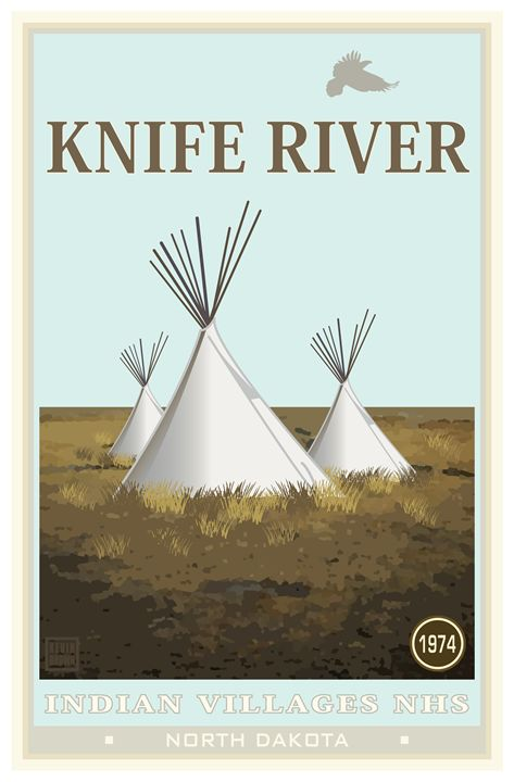 Knife River National Historic Site - Vintage Travel by Kevin Brown Studio