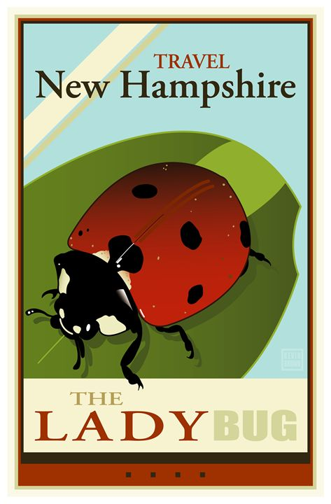 Travel New Hampshire - Vintage Travel by Kevin Brown Studio