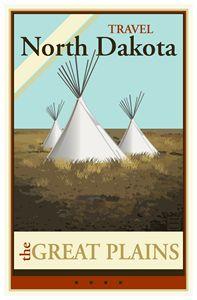 Travel North Dakota - Vintage Travel by Kevin Brown Studio