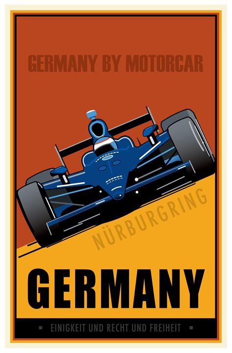 Germany - Vintage Travel by Kevin Brown Studio