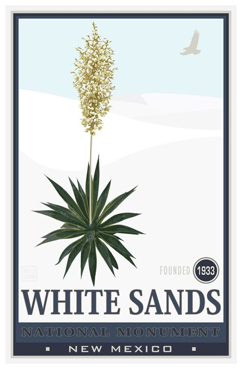 White Sands National Monument II - Vintage Travel by Kevin Brown Studio